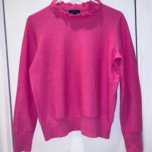J Crew Pink Textured Sweater Size S